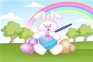Happy Easter Cartoon Wallpaper