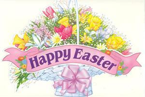 Happy Easter Flower Poat