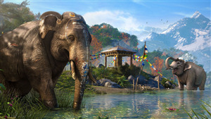 Indian Hindu Elephant in River