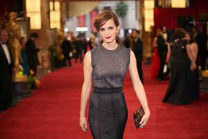 Emma Watson on Red Carpet with Black Dress Photo