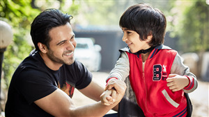 Emraan Hashmi Playing with Little Boy 5K Wallpaper