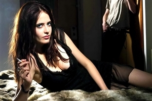 Eva Green Smoking Cigar Photo