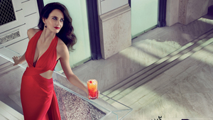French Actress Eva Green in Red Dress HD Photo
