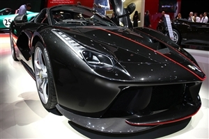 2018 V8 Ferrari Black Car