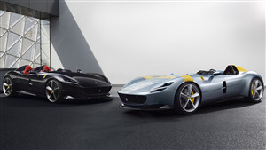 8K Wallpaper of Ferrari Monza SP2 Cars Model