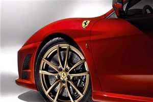 Amazing HD Wallpaper of Ferrari Front Wheel HD Wallpaper