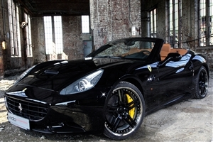 Black Convertible Ferrari Car Wallpaper
