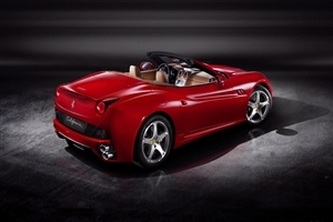 Red Ferrari California Car HD Desktop Background Wallpaper
