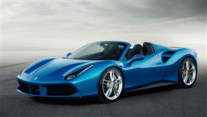 Superb Photo of Blue Ferrari Car