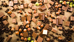 Chocolates and Coffee HD Background Wallpaper