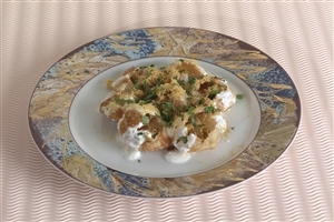 Dahi Batata Puri Best Indian Food Snack Dishes Wallpapers