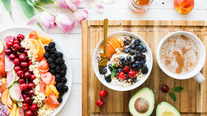 Fruits Dish for Breakfast 5K HD Wallpaper