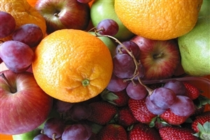Orange Grapes and Apple Fruits Wallpapers
