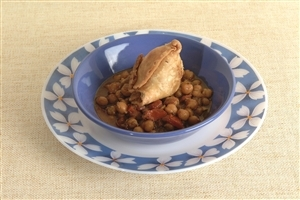 Samosa With Chole Indian Popular Food Dish Wallpapers