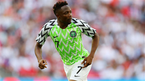 Ahmed Musa Nigerian Footballer in Fifa World Cup 2018 Wallpaper