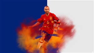 Andres Iniesta Footballer 4K Wallpaper