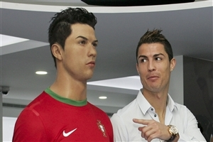 Cristiano Ronaldo with Nice Hair Style in CR7 Museum Wallpapers