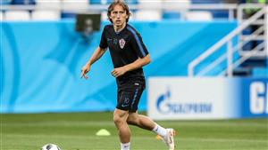 Luka Modric Croatian Footballer FIFA World Cup 2018 4K Wallpaper
