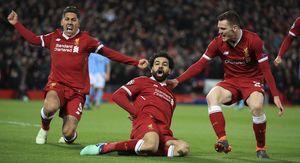 Mohamed Salah Celebrate After Goal Images