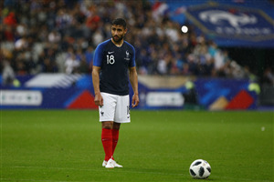 Nabil Fekir French Footballer in FIFA World Cup 2018 Wallpaper