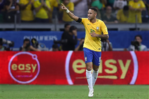 Neymar Brazilian Footballer During Match Wallpapers