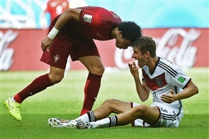 Portugal Vs Thomas Muller Pepe Germany World Cup 2014 Images