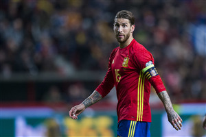 Sergio Ramos Spain Football Player in FIFA World Cup 2018 4K Wallpapers