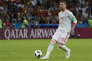 Sergio Ramos Spain Footballer in FIFA World Cup 2018 HD Wallpaper