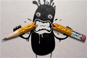 Funny Pencil Drawing Photo