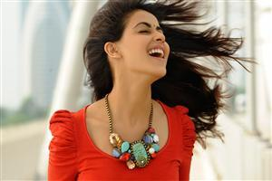 Genelia Dsouza in Red Top With Smile