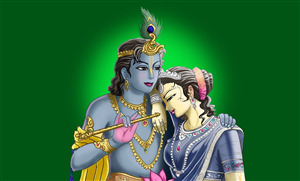 Download Pic of Krishna with Radhe