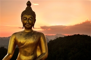 God Buddha Golden Statue Wallpaper