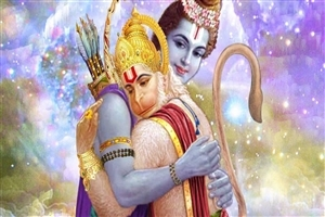 God Hanuman with Ram