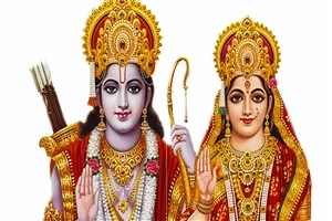 God Rama with Sita