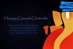 Happy Ganesh Chaturthi Greetings Wallpaper