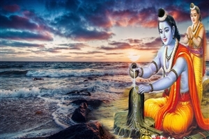 Lord Ram Worshiping Shiva