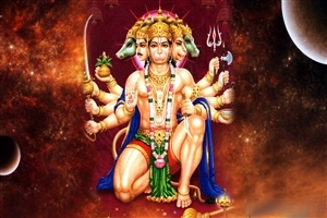 3577 Download 4767 Views Panchmukhi Lord Hanuman