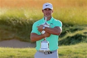 Brooks Koepka with Winning Trophy Photo