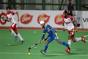 Malak Singh in Hockey Match Photo