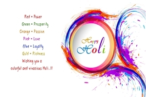 Colorful Happy Holi HD Photo with Wishes