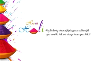 Festival of Colors Holi Greeting Wishes Wallpaper