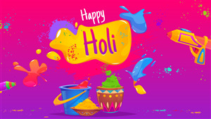 Happy Holi 4K Wallpaper