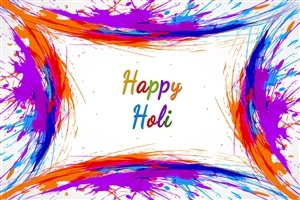 Happy Holi Colorful HD Image