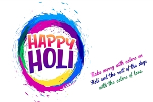 Happy Holi Festival Wish Message 4K Wallpaper
