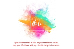 Happy Holi Greeting Message HD Wallpaper