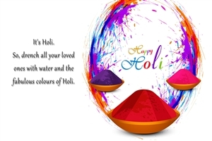 Happy Holi Greeting Quote Photo