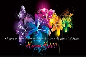 Happy Holi Greeting Quote Wallpaper