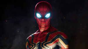 4K Photo of Iron Spider Man in Film Avengers Infinity War