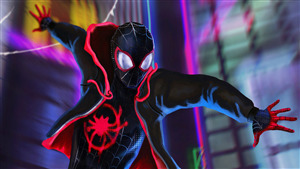 4K Photo of Spider Man Into the Spider Verse 2018 Movie