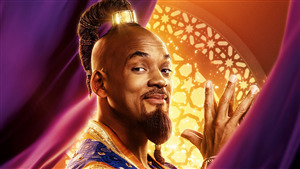 5K Wallpaper of Will Smith as Genie in Aladdin
